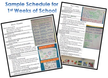 Launching Lesson Plans for 1st Weeks of School - Charts an