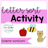 Sample Letter Sort Activity