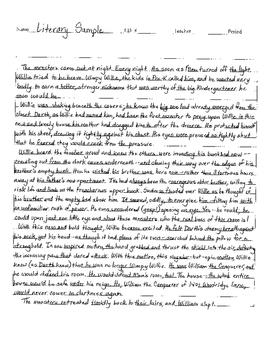 Interview Essay Paper Sample Literary Essay Staar Eoc High School English Essay Topics also What Is A Thesis Of An Essay Sample Literary Essay Staar Eoc By A Novel Idea  Tpt Essay Proposal Outline