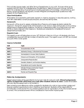 Sample Living Environment Syllabus