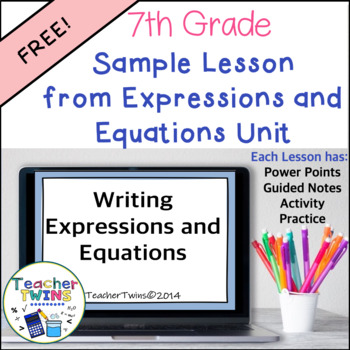 Sample Math Unit Writing Expressions and Equations