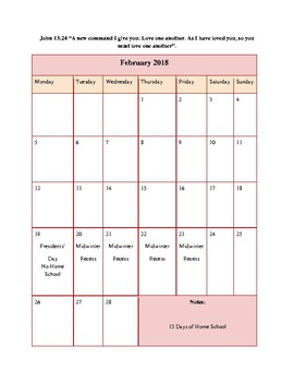 Sample Month of February in The Ultimate Kindergarten Experience