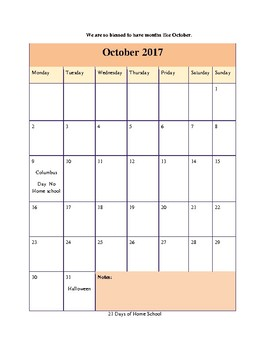 Sample Month of October in The Ultimate Kindergarten Experience