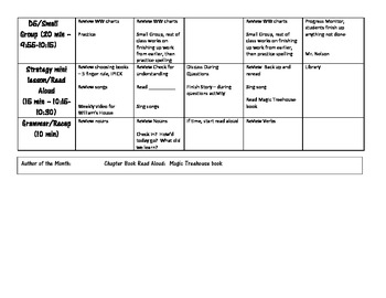 Sample Monthly Outline