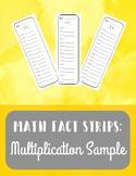 Sample Multiplication Fact Strips - FREEBIE!