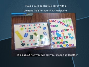 Sample Multiplication Magazine Math Project