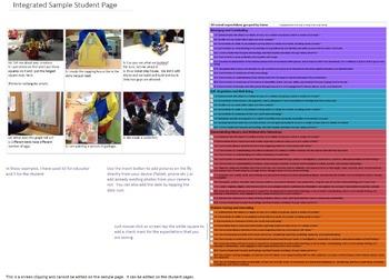 Sample Ontario Kindergarten Four Frames Learning PortfolioTemplate