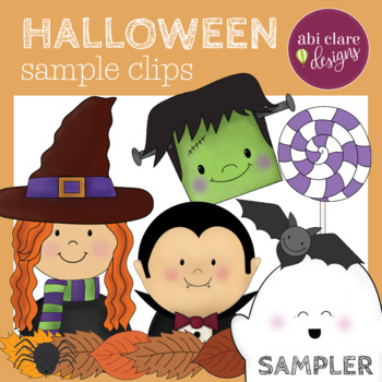Halloween Clip Art - SAMPLE BUNDLE (Full 80-clip pack is available on my store!)