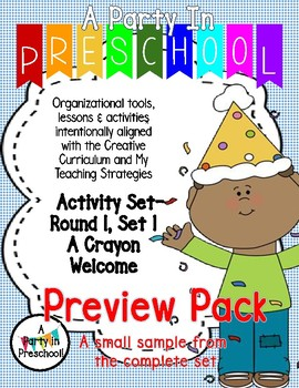 My Teaching Strategies  Round 1, Set 1- A Crayon Welcome- Sample Pack