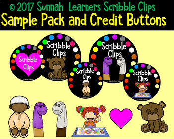 Sample Pack, choose your own Credit Buttons, Terms of Use