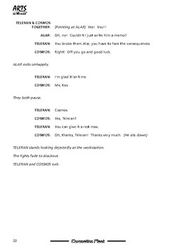 Drama play script sample pages: Coronation Fleet (spaceship comedy soap opera)