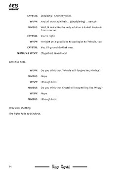 Play script sample pages: Fairy Crystal and the Really Big Lie (fairy tale)