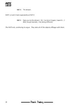 Drama Play script sample pages: Peter's Problem (fairy tale, bullying, animals)