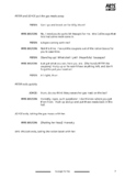 Mini play script, sample pages: Sausages For Tea (World War 2, British history)