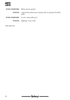 Drama play script, sample pages: Spellbound (fairy tale with attitude! Friends)