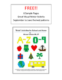 "Sample Pages from the e book ""Brick Activities for School"