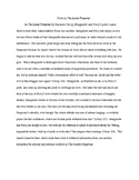 Sample Paragraph/Essay- Characterization in The Scarlet Pimpernel
