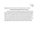 Sample Paragraph: Evaluating Advantages and Disadvantages