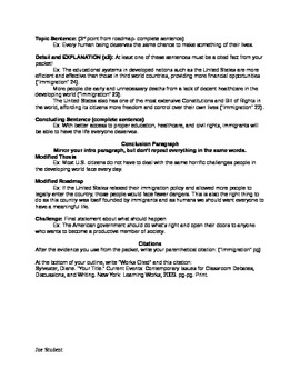 Sample Persuasive Essay & Outline with MLA Citations