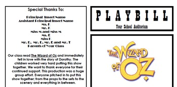 Sample Playbill Template for Your School Play, Recital, or Concert