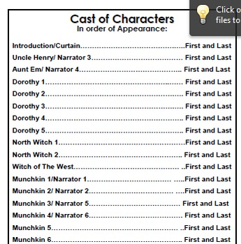 Sample Playbill Template For Your School Play Recital Or