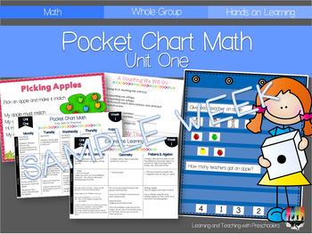 Sample Pocket Chart Math Week One