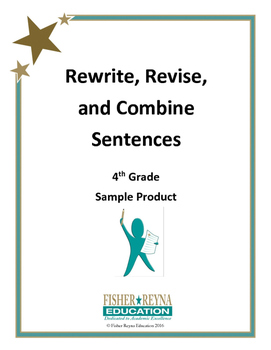 Sample Product: Revise Sentences 4th Grade