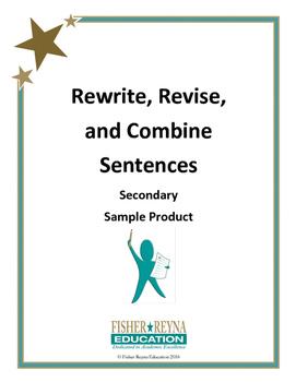 Sample Product: Revise Sentences Secondary