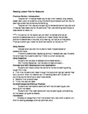 Sample Reading Lesson Plan for Resource Room