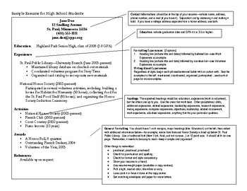 Sample Resume - Intro to Business Ch. 15