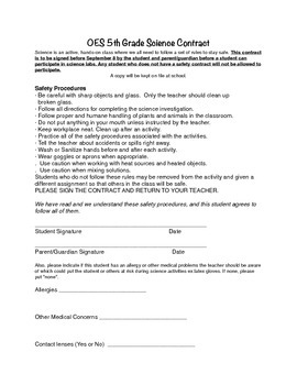 Sample Science Contract