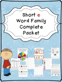Sample Short e Word Family Centers Bundle: CVC Bingo, Spinner, Sorting, & MORE!