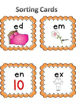 Sample Short e Word Family Centers Bundle: CVC Bingo, Spinner, Sorting, & MORE!