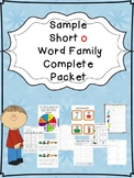 Sample Short o Word Family Centers Bundle: CVC Bingo, Spinner, Sorting, & MORE!