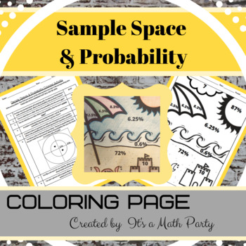 Sample Spaces & Probability - Coloring Activity