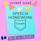 Sample Speech Therapy Homework!