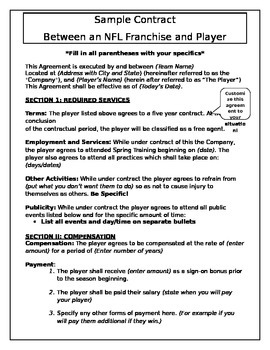 Sample Sports Contract