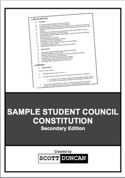 Sample Student Council Constitution - Secondary Edition