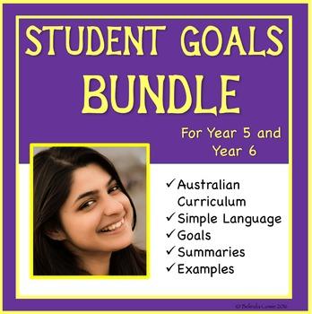Sample Student Goals For the Australian Curriculum Bundle: