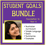 Sample Distance Learning Goals: Aus Curriculum Bundle: Fou