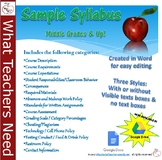 Sample Syllabus for Middle Grades and Up! Completely Custo