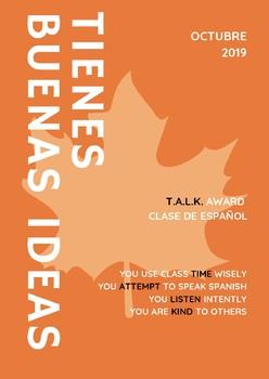Sample T.A.L.K. Award