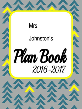 Sample Teacher Plan Book *Editable* Design Cover
