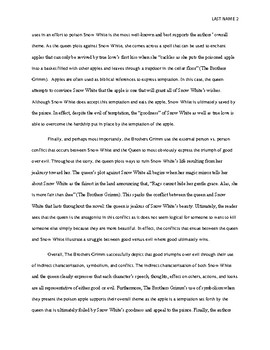 sample thematic analysis essay high school by kelly ferraro  tpt sample thematic analysis essay high school