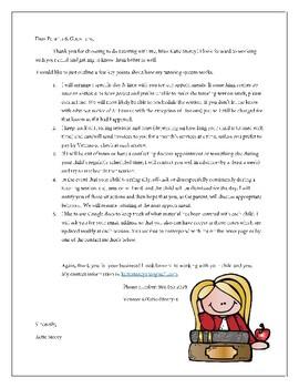 Sample Tutoring Letter