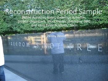 Sample US History Full Year Curriculum:  Andrew Johnson