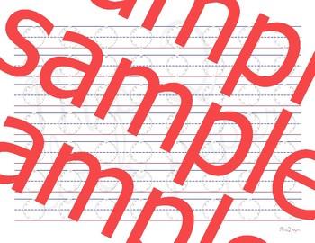 Sample Upper Case Clock Paper