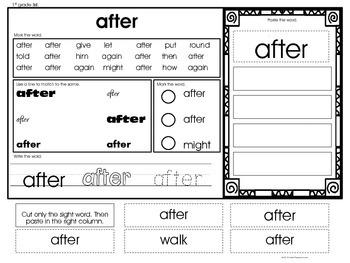Sample Word Identification & Word Work (Gen Ed., Autism & Special Ed.)