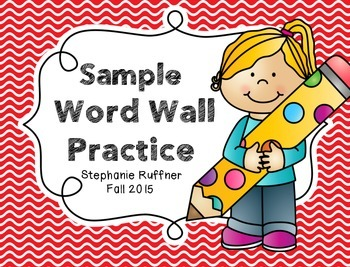 Sample Word Wall Practice