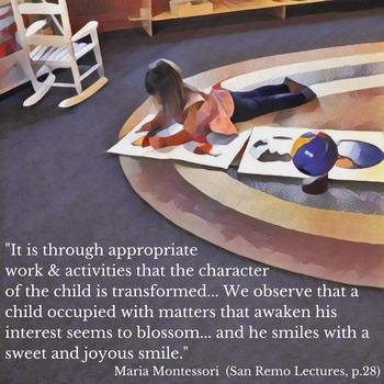 Montessori Daily Lesson Plan #1